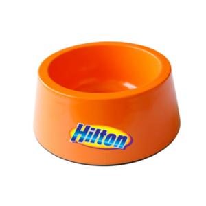 Hilton miska pojedyncza pomarańczowa z melaminy antypoślizgowa dla psa kota