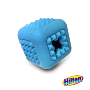 Hilton dental cube zabawka dla psa niebieska
