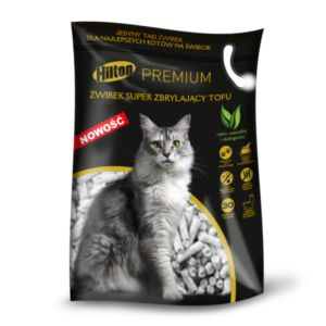 Hilton litter clumping tofu for cat