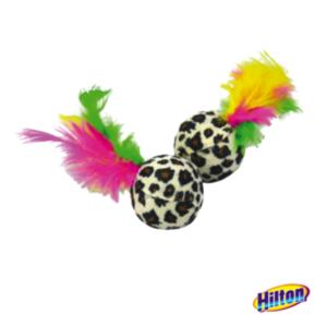 Hilton piłeczki z piórkami zabawki dla kotów