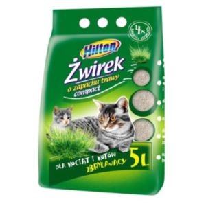 Hilton Compact żwirek bentonitowy o zapachu trawy dla kota