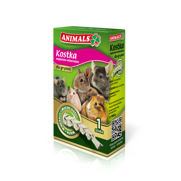 Animals lime and mineral cube for rodents