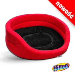 Hilton legowisko czerwono-czarne dla psa lub kota