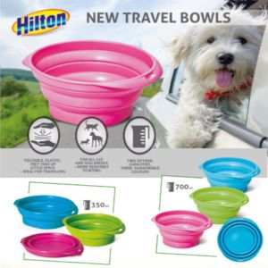 HILTON TRAVEL BOWLS FOR DOG AND CAT