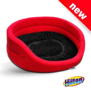 Hilton red and black bed for cat or dog